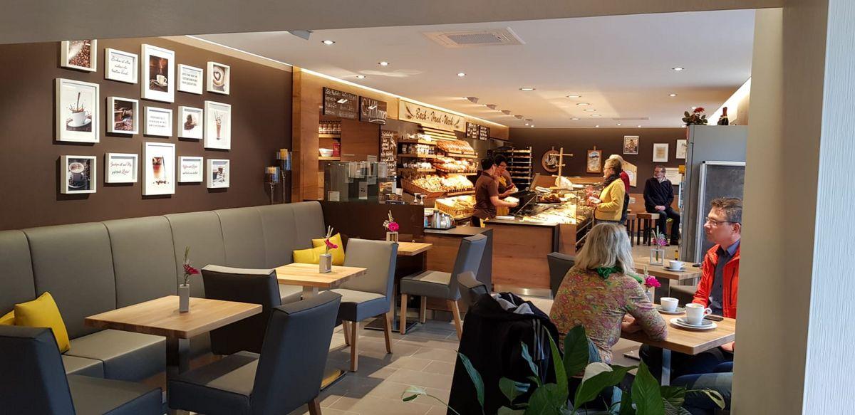 Blick in die neue Bäckerei + Cafe