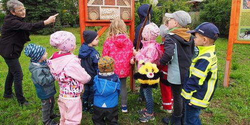 Bienenhotel am Dorftreffpunkt Foto: LEADER RM