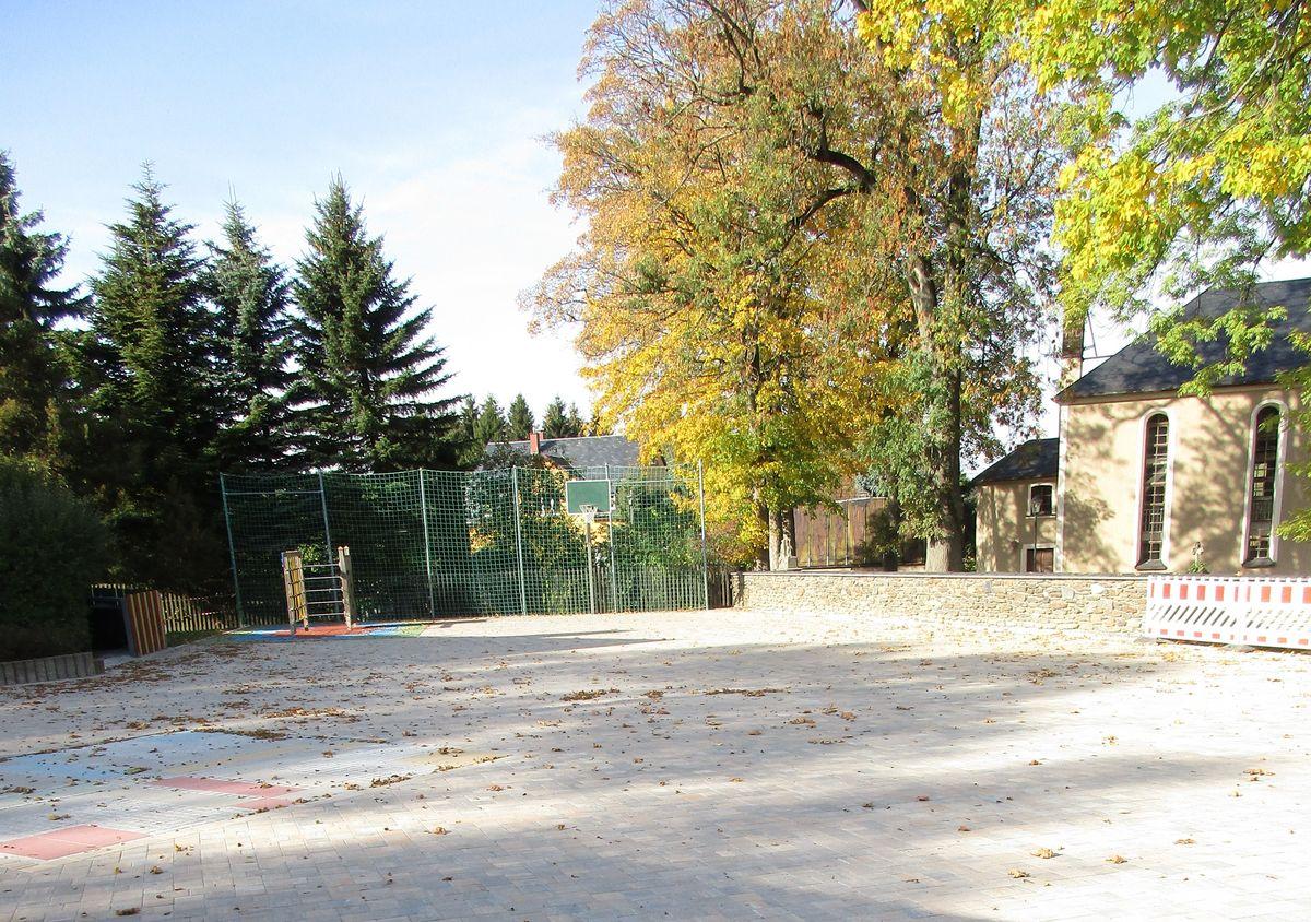 neuer Schulhof der Grundschule Werda